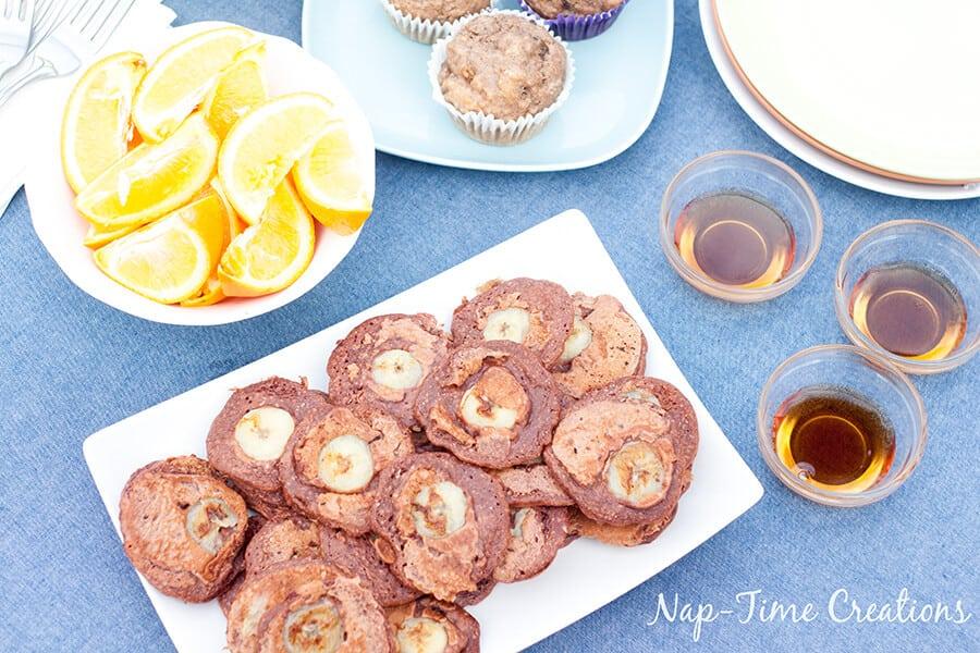 Whole Wheat Choco Banana Pancakes with Nesquick 6