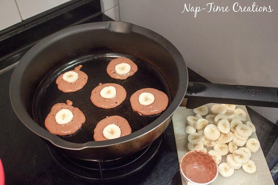 Whole Wheat Choco Banana Pancakes with Nesquick 8