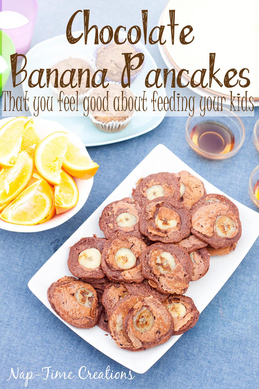 Whole Wheat Choco Banana Pancakes with Nesquick {ad}