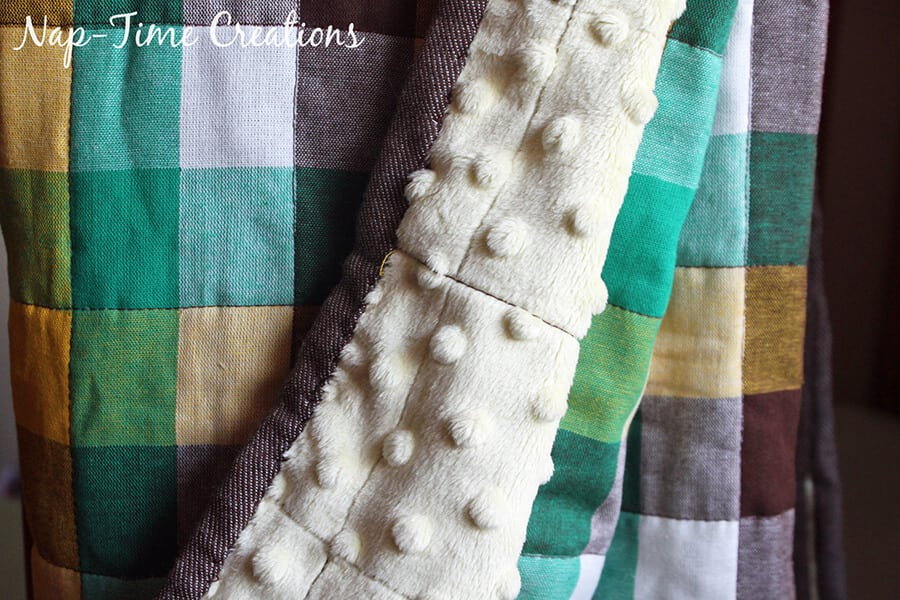 geometic fabric baby blanket tutorial 12