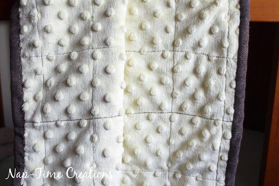 geometic fabric baby blanket tutorial 13