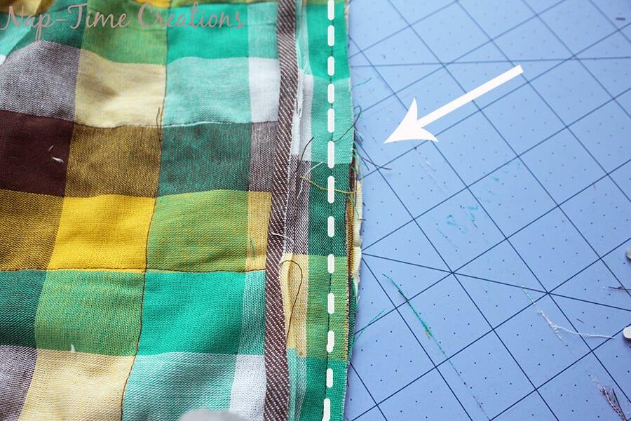 geometic fabric baby blanket tutorial 7