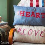 Zipper Pillow Case Tutorial & Hashtag Valentine Pillows