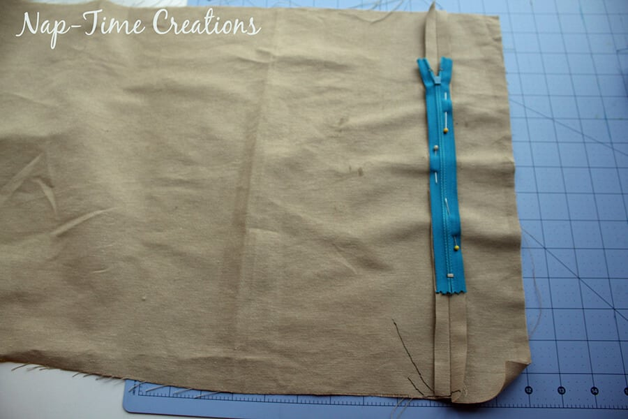 how to sew a pillowcase with a zipper