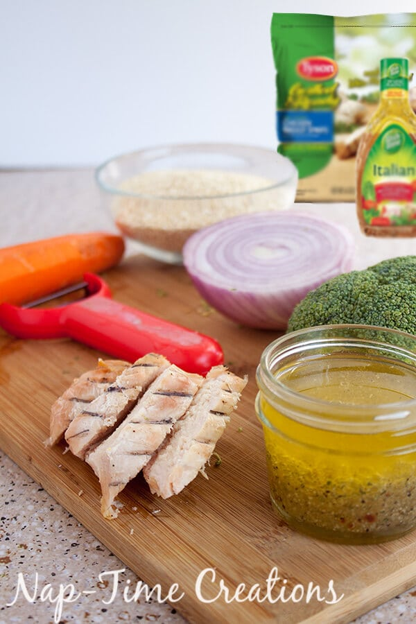 Italian Quinoa Chicken Salad