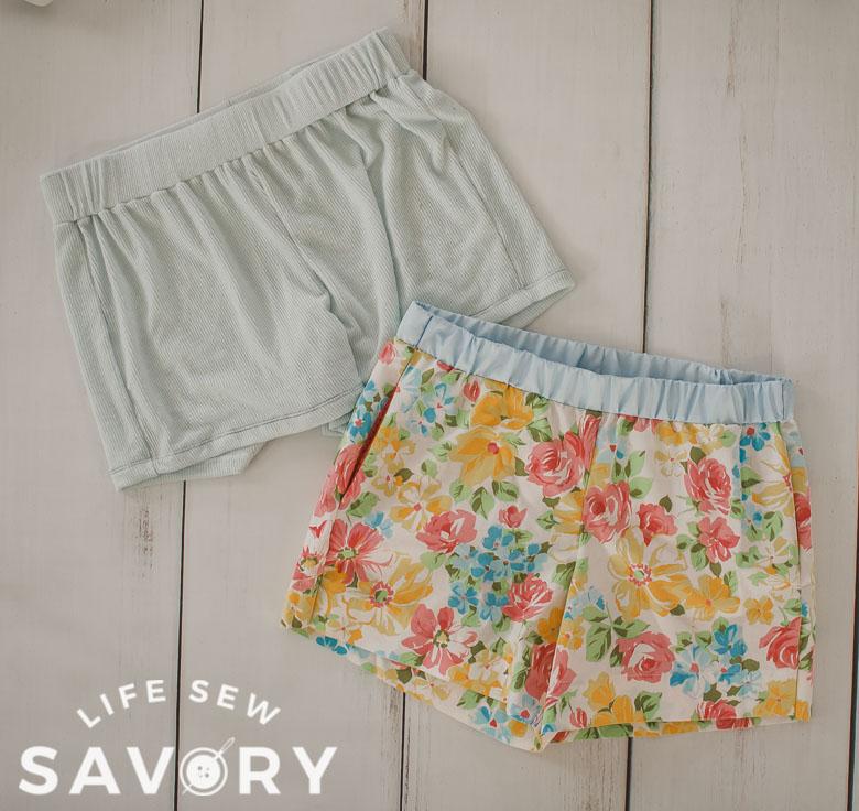 womens pj shorts pattern