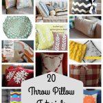 20 Throw Pillow Tutorials