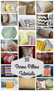 20 Throw Pillow Tutorials