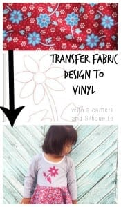 Transfer Fabric Pattern to Vinyl for coordinating outfits by Nap-Time Creations