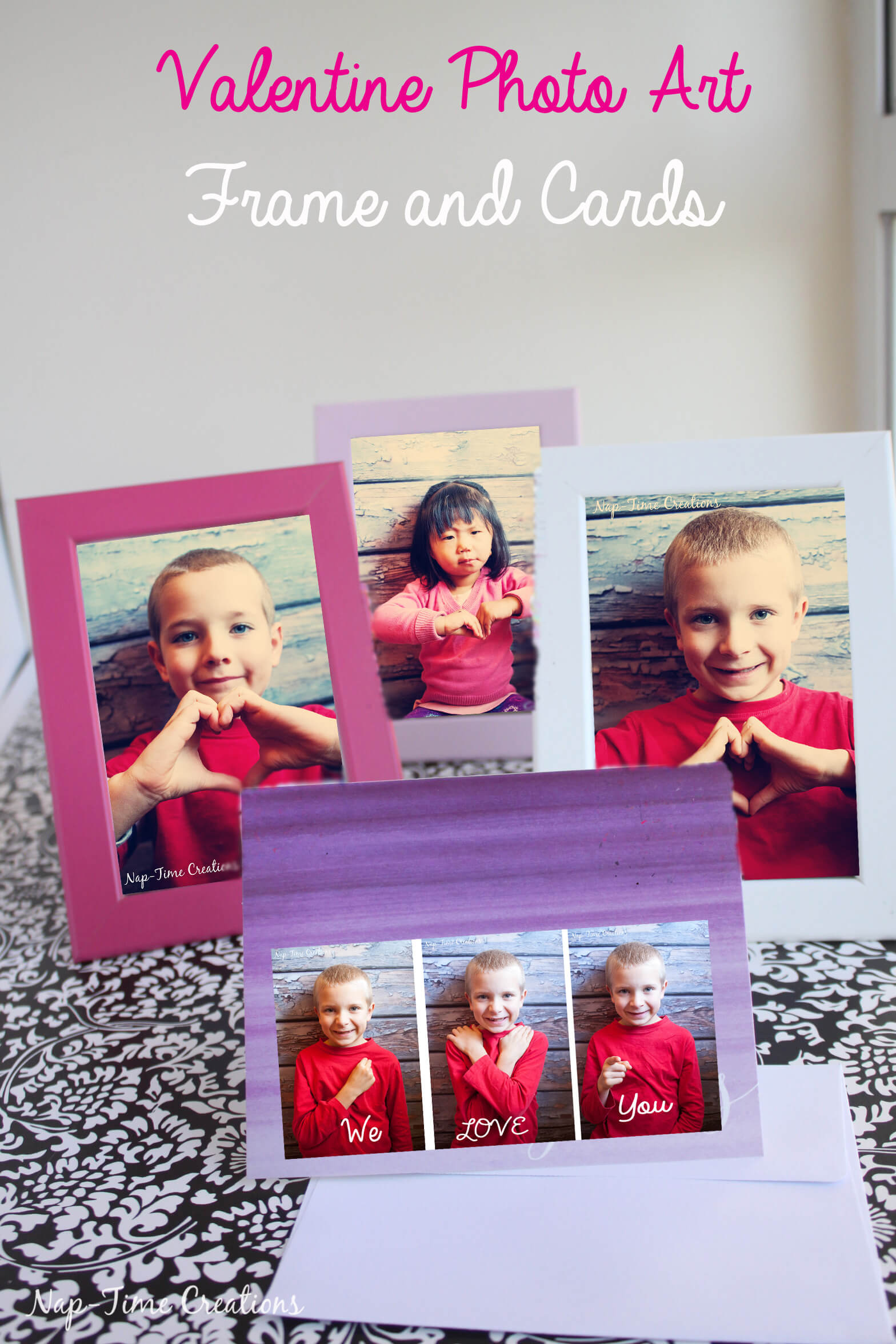 Valentines photo Art ideas for cards and frames from Nap-Time Creations 1