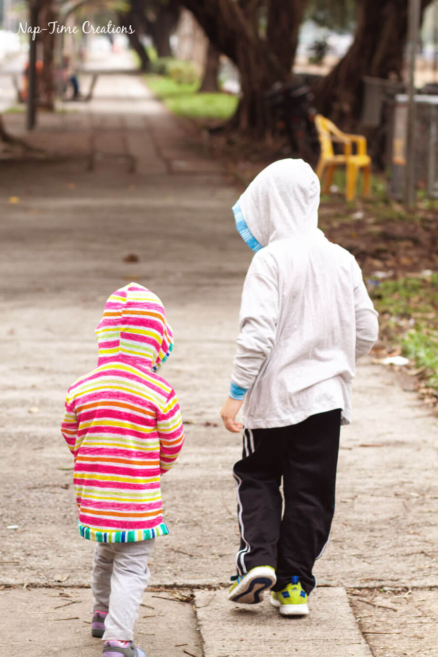 Hooded T-Shirt Free Pattern for Kids
