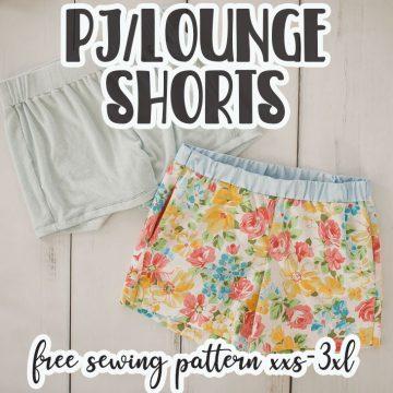 free pj and lounge shorts pattern