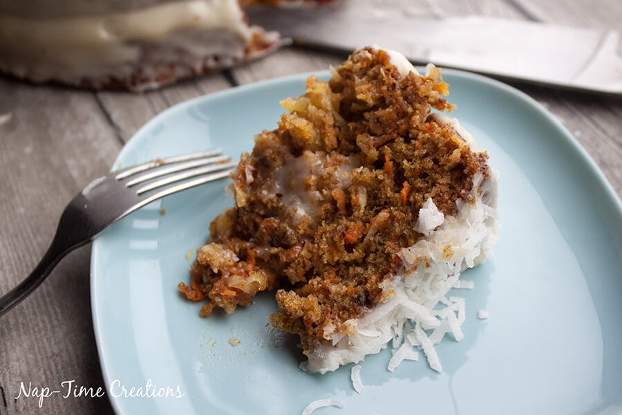 raisin-less Carrot Cake Recipe