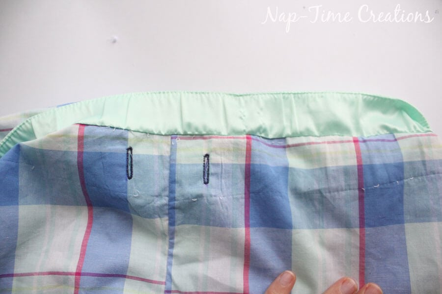 how to sew a hidden waistband