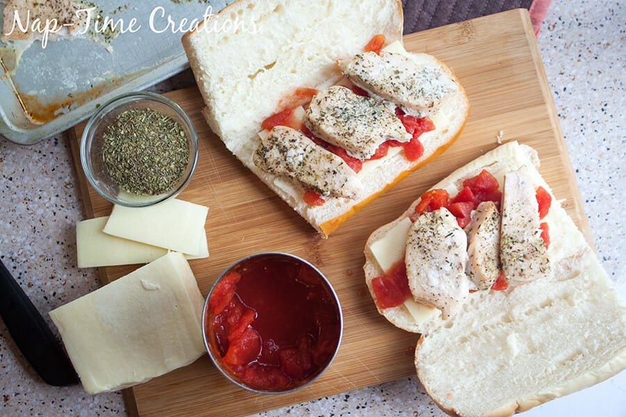 Tomato Chicken Baked Subs 2