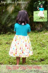 easy zipper dress free pattern and tutorial from Nap-Time Creations Size 2T-10Y