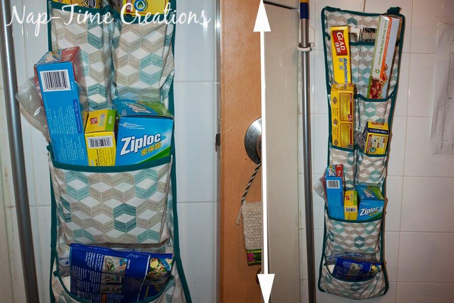 kitchen hack with IKEA Bathroom organizer