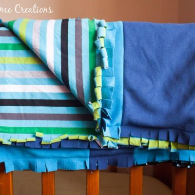 Snuggly Baby Blanket Tutorial with Knit & Fleece