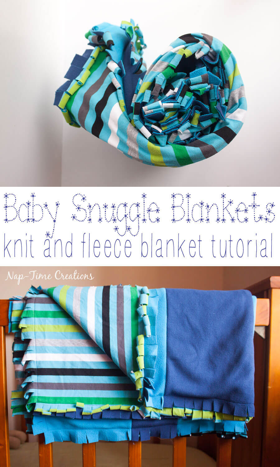 snuggly-baby-blanket-tutorial-with-knit-and-fleece-easy-sewing-project-from-Nap-Time-Creations #SnuggleUpMoments {ad}