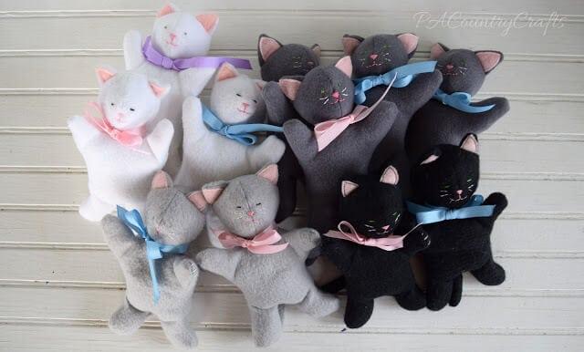 litter of stuffed kittens