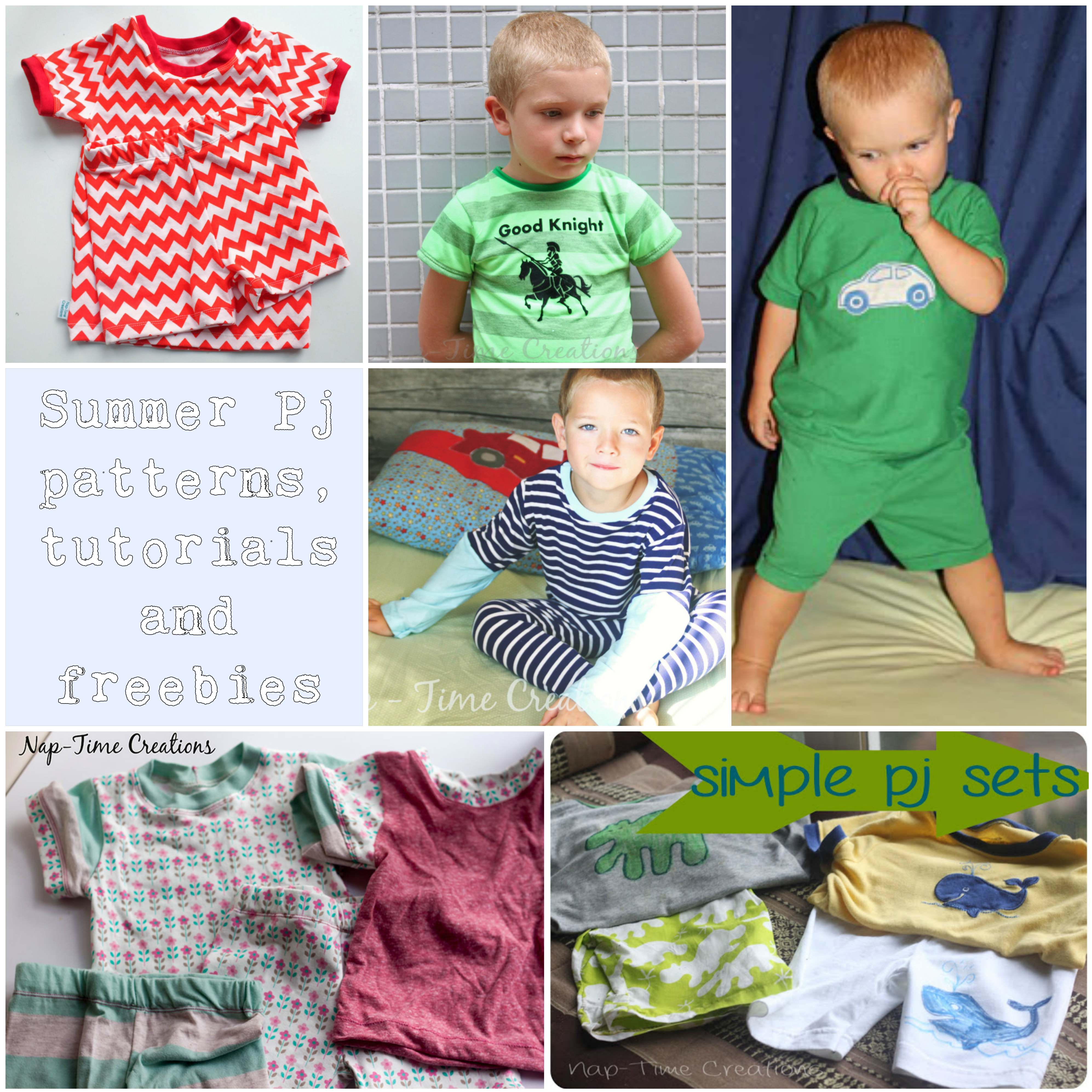 summer pj patterns tutorials and freebies for kids
