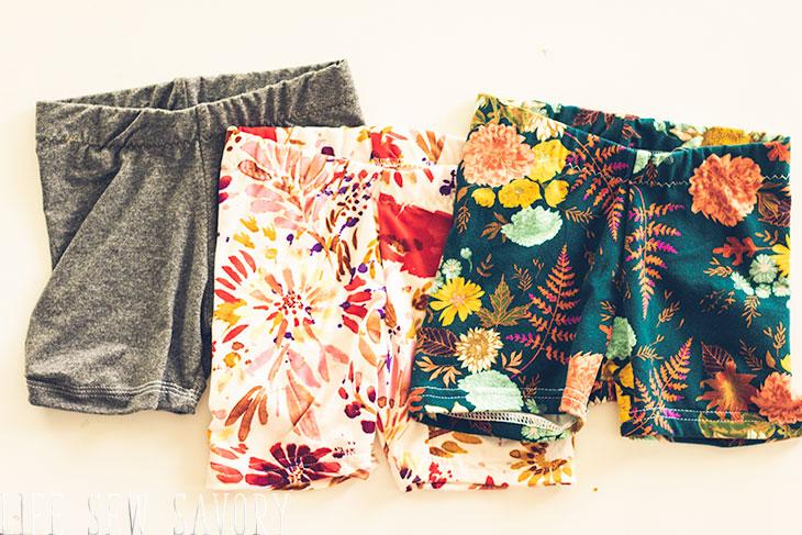 short elastic waist shorts