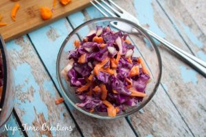 Tangy Coleslaw Recipe with Purple Cabbage