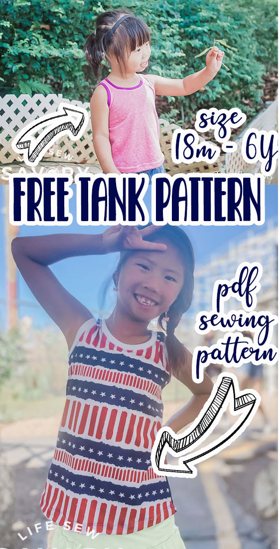 Learn how to sew up a free tank pattern to create a fun and easy summer top. The style is more fitted at the top with a bit of a flare at the bottom. A great free tank pattern for hot summer days.