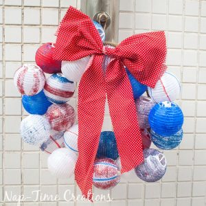 DIY Summer Wreath – Red White and Blue