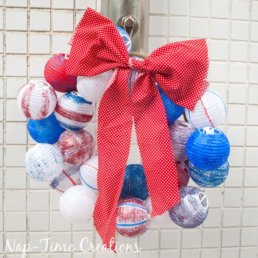 red-white-and-blue-ball-wreath 1