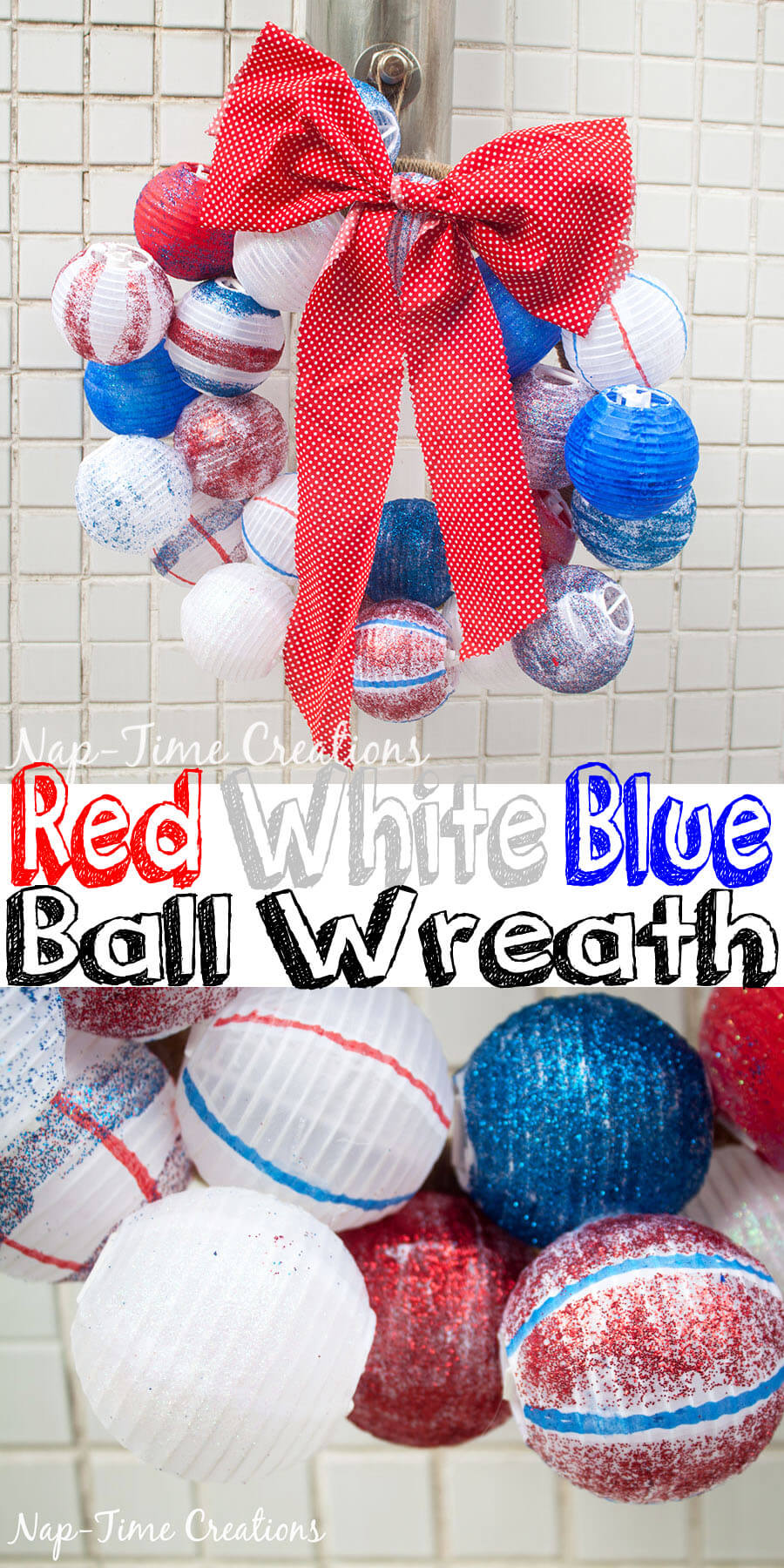 red-white-and-blue-ball-wreath-DIY-from-Nap-Time-Creations-for-Sugar-Bee-Crafts