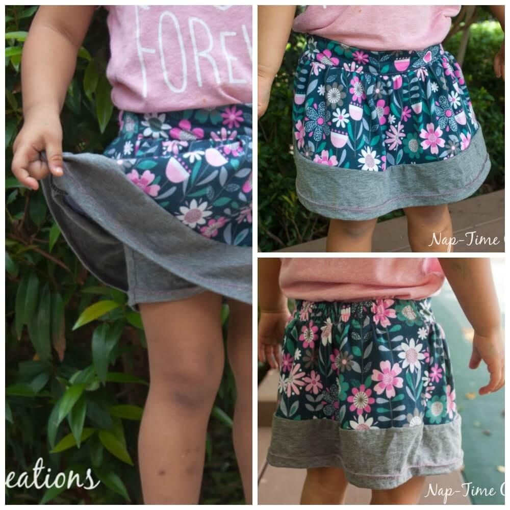 free girls pdf pattern dress with circle skirt
