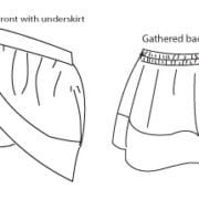 summer play skirt line drawing