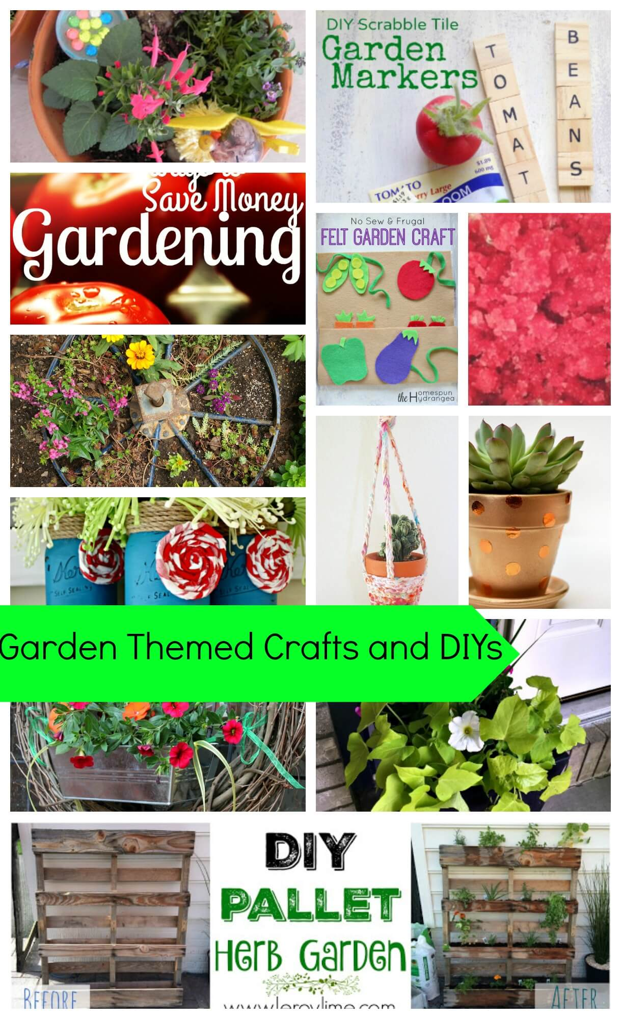 Garden Themed Crafts and DIYs
