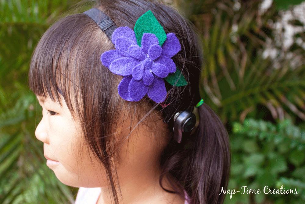 Felt Flower Hair Clip DIY