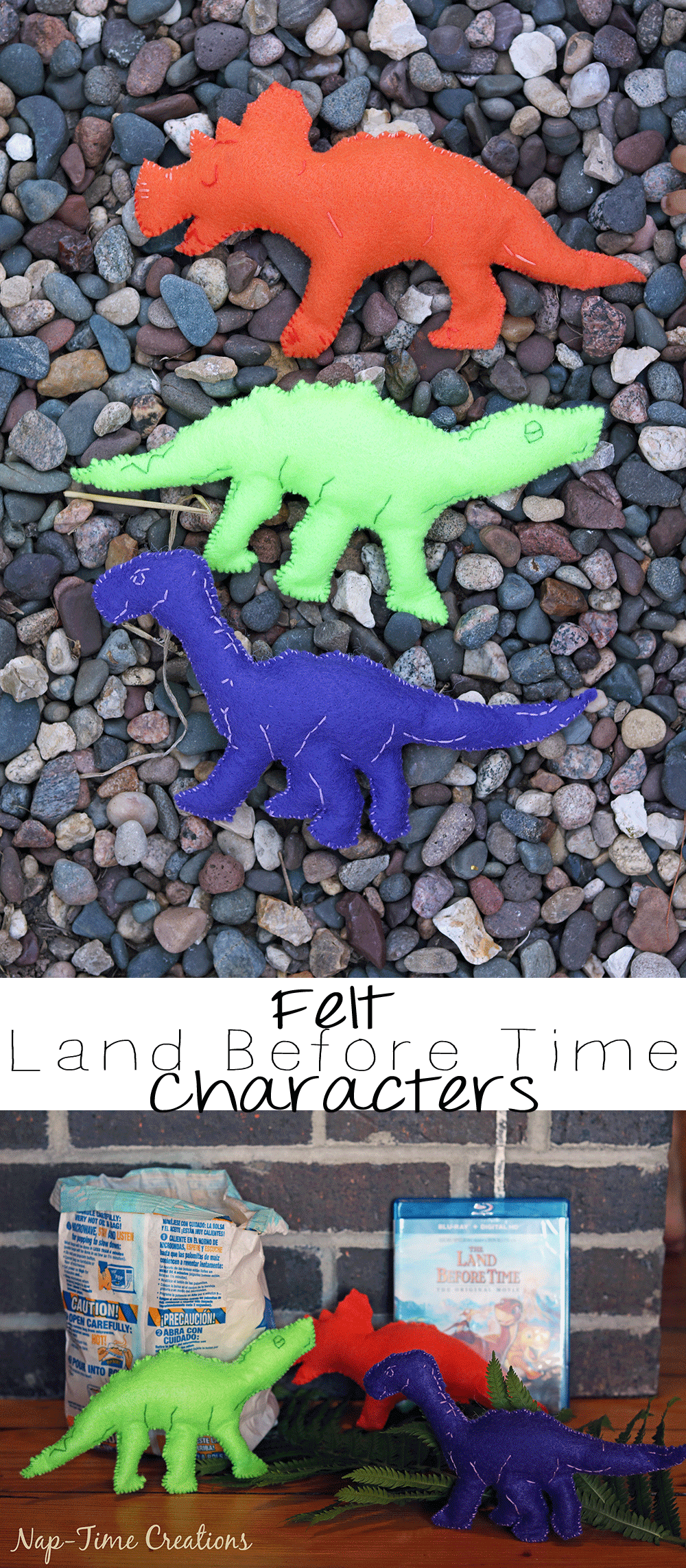 felt-dinosaurs-template-for-land-before-time-characters-on-Nap-Time-Creations