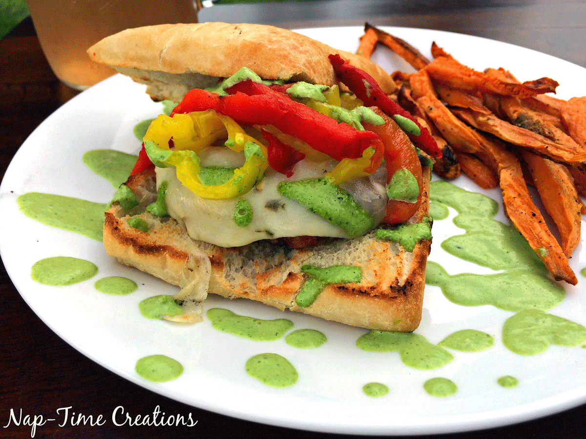 pepper-chicken-burger-with-sweet-potato-fries-2