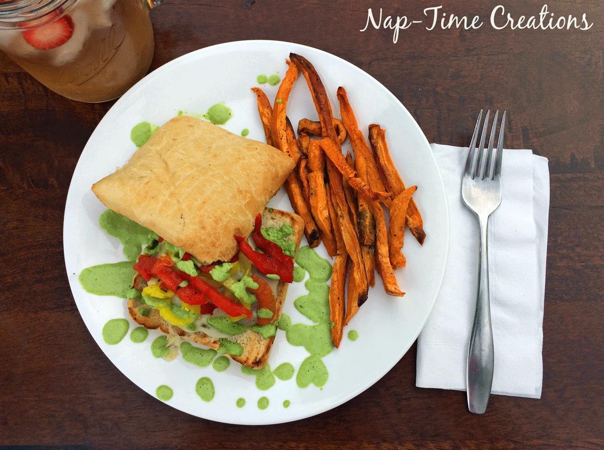 pepper-chicken-burger-with-sweet-potato-fries-3