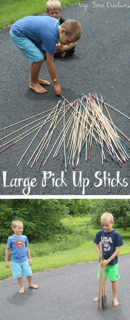 giant pick up sticks for driveway fun
