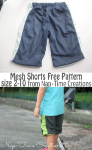 mesh shorts fre pattern suze 2-10 from Nap-Time Creations