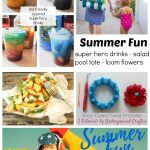 Kids Friendly Layered Superhero Drinks and Summer Fun #4