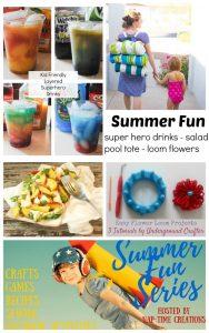 Kids Friendly Layered Superhero Drinks and Summer Fun #4