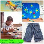 Mesh Shorts Free Pattern & Summer Fun #7