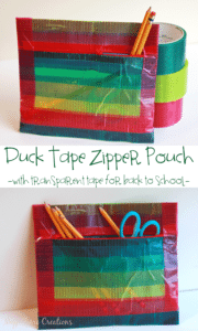 Duck-Tape-Zipper-Pouch-with-transparent-tape-a-no-sew-project-for-back-to-school