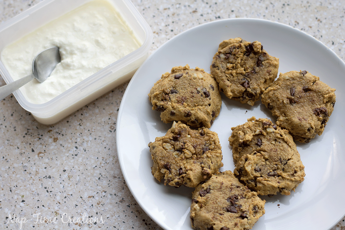 Healthier Frozen-Cookie Treat- frozen yogurt healthy cookie from Nap-Time Creations for thirtyhandmadedays.com