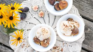 Spiced Fig Ice Cream & Ice Cream Applique