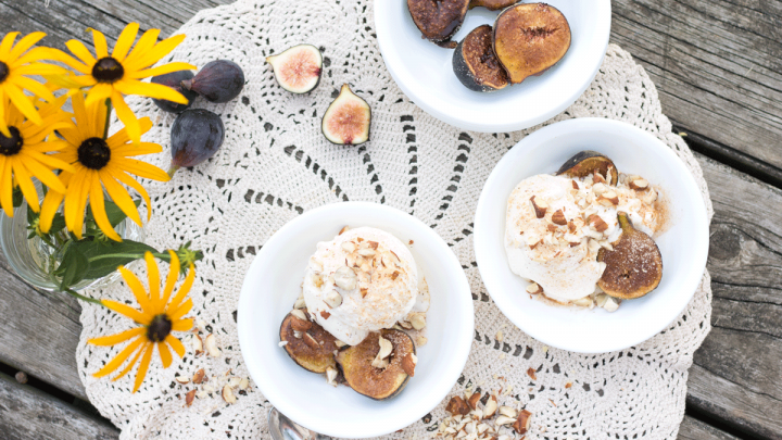 Spiced Fig Ice Cream & Ice Cream Applique