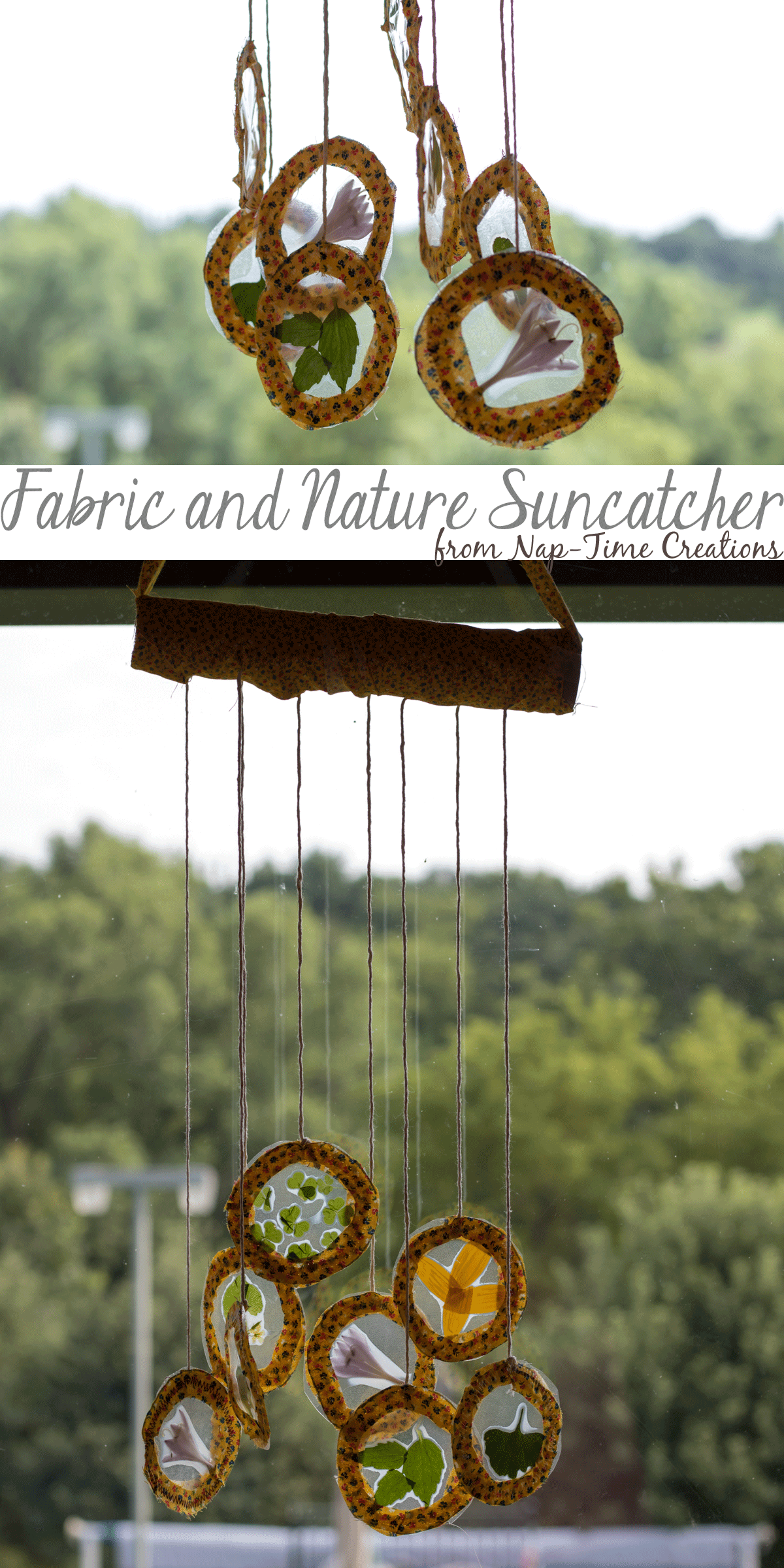fabric and nature suncatcher -from-Nap-Time-Creations