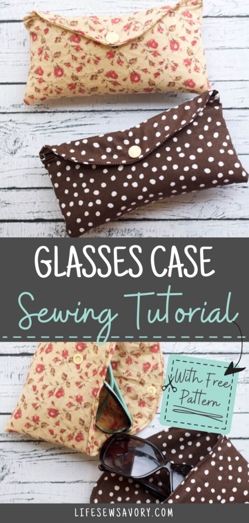 Sun glasses case sewing tutorial with free template from LIfe Sew Savory