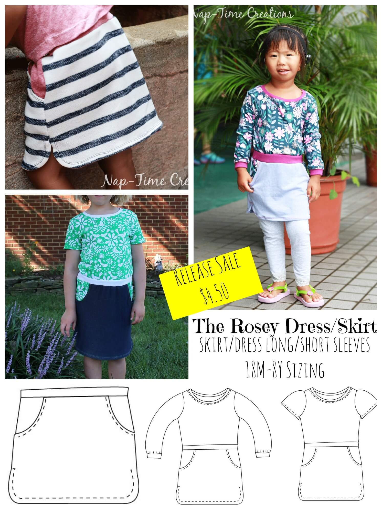 The Rosey Dress Pattern Release by Nap-Time Creations